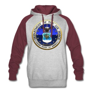 US Air Force (USAF) Seal - Colorblock Hoodie