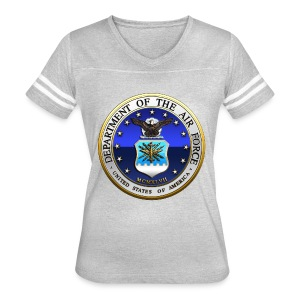 US Air Force (USAF) Seal - Women's Vintage Sport T-Shirt