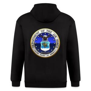 US Air Force (USAF) Seal - Men's Zip Hoodie