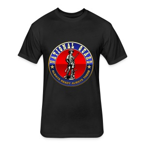US National Guard (USNG) Emblem - Fitted Cotton/Poly T-Shirt by Next Level