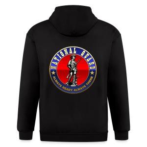 US National Guard (USNG) Emblem - Men's Zip Hoodie