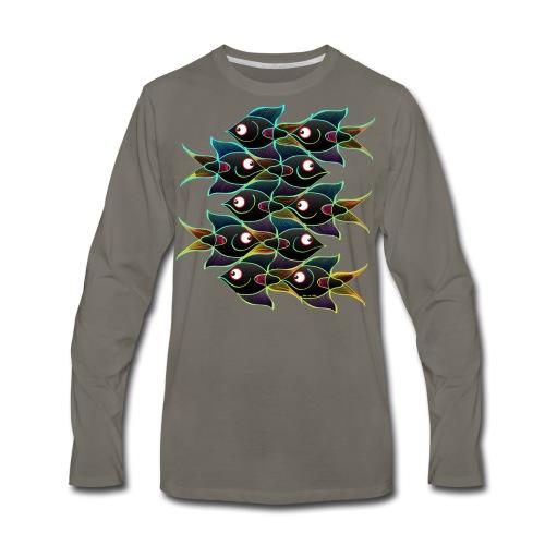 A World Full of Smiling Fishes - Men's Premium Long Sleeve T-Shirt