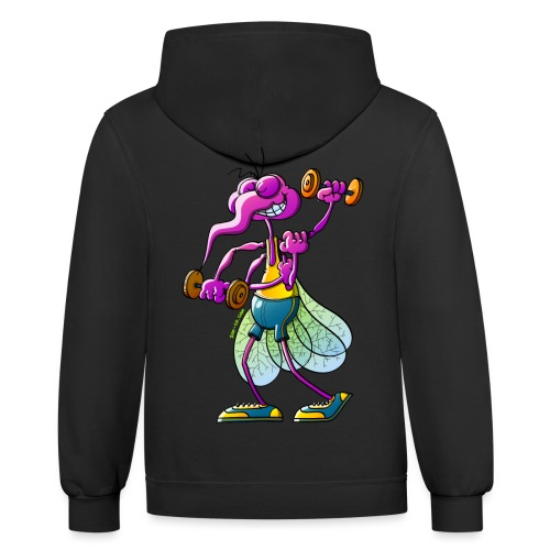 Mosquito Lifting Weights - Contrast Hoodie