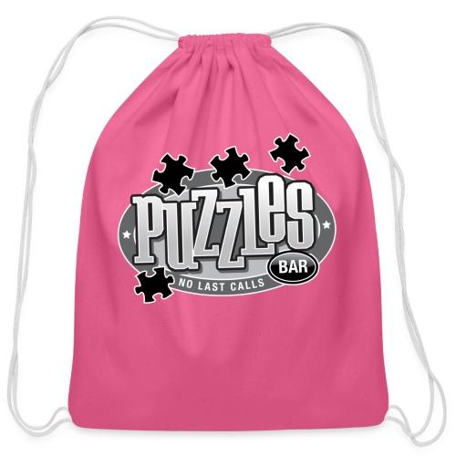 Puzzles Bar Women's Standard Weight T-Shirt - Cotton Drawstring Bag