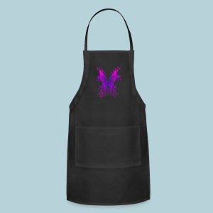 Pink N Purple Butterfly - Adjustable Apron