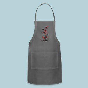 Red and Black Fl0wers Women's T-Shirts - Adjustable Apron