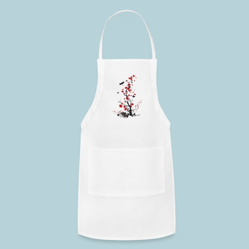 Red and Black Flowers - Adjustable Apron