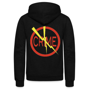 Donald's 'Don't Do Crime Design (Front & Back) - Unisex Fleece Zip Hoodie by American Apparel