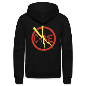 Donald's 'Don't Do Crime Design (Front & Back) - Unisex Fleece Zip Hoodie