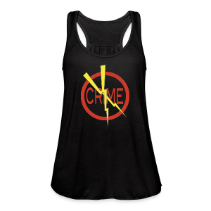 Donald's 'Don't Do Crime Design (Front & Back) - Women's Flowy Tank Top by Bella