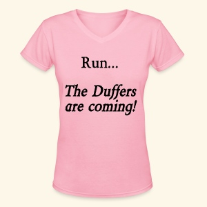 Run... The Duffers are coming! - Women's V-Neck T-Shirt