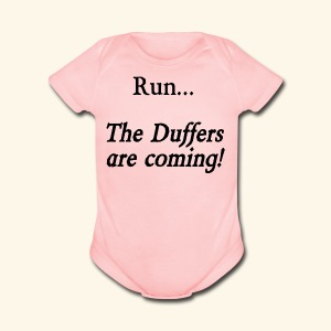 Run... The Duffers are coming! - Short Sleeve Baby Bodysuit