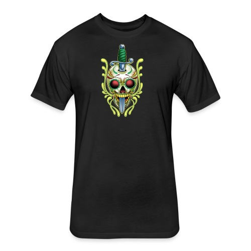 C-119 DoD Skull w/Sword Women's T - Fitted Cotton/Poly T-Shirt by Next Level
