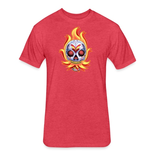 C-120 DoD Fire Skull Women's T - Fitted Cotton/Poly T-Shirt by Next Level