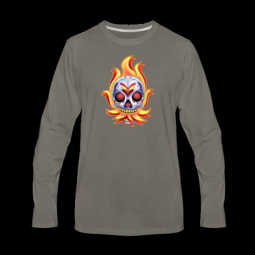 C-120 DoD Fire Skull Women's T - Men's Premium Long Sleeve T-Shirt
