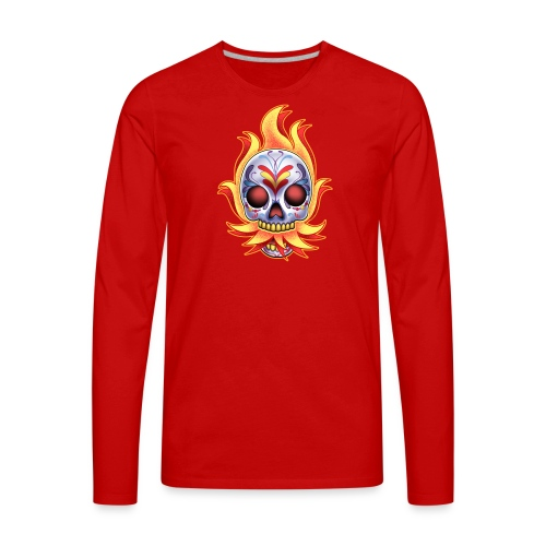 C-120 DoD Fire Skull Women's T - Men's Premium Long Sleeve T-Shirt