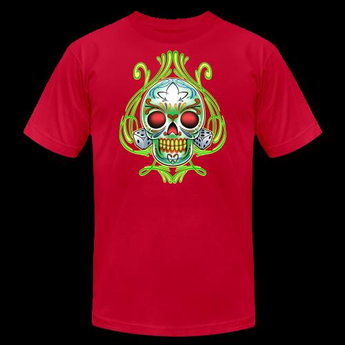C-120 DoD Fire Skull Tee - Men's Fine Jersey T-Shirt