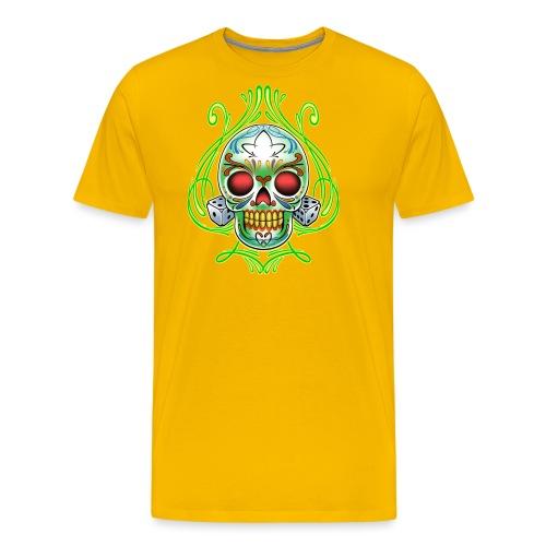 C-120 DoD Fire Skull Tee - Men's Premium T-Shirt