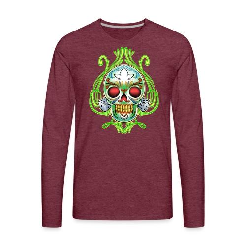 C-120 DoD Fire Skull Tee - Men's Premium Long Sleeve T-Shirt