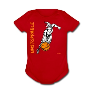 Basketball - Unstoppable - Women - Short Sleeve Baby Bodysuit