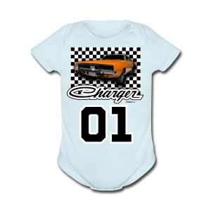 Dukes of Hazzard Dodge Charger - Short Sleeve Baby Bodysuit