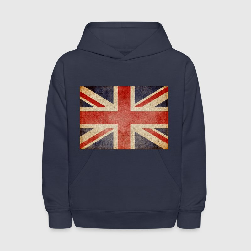 Faded UK Flag Sweatshirts - Kids' Hoodie