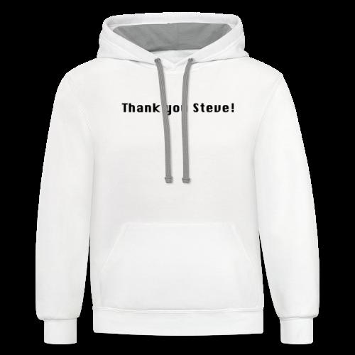 Thank You Steve - Contrast Hoodie
