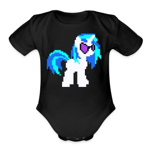DJ PON-3 pixel single plain - Short Sleeve Baby Bodysuit