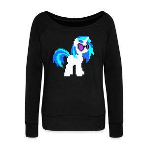DJ PON-3 pixel single plain - Women's Wideneck Sweatshirt
