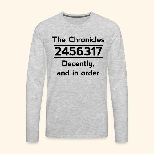 Original Reading Order - Men's Premium Long Sleeve T-Shirt