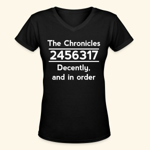 Original Reading Order - Women's V-Neck T-Shirt
