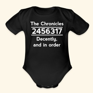 Original Reading Order - Short Sleeve Baby Bodysuit