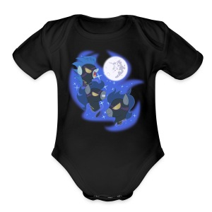 Three Shadowbolt Moon by Rankao - Short Sleeve Baby Bodysuit