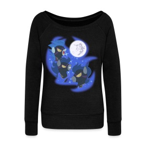 Three Shadowbolt Moon by Rankao - Women's Wideneck Sweatshirt