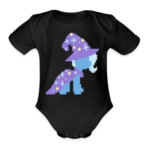 Trixie pixel plain - Short Sleeve Baby Bodysuit
