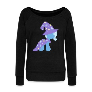 Trixie pixel plain - Women's Wideneck Sweatshirt