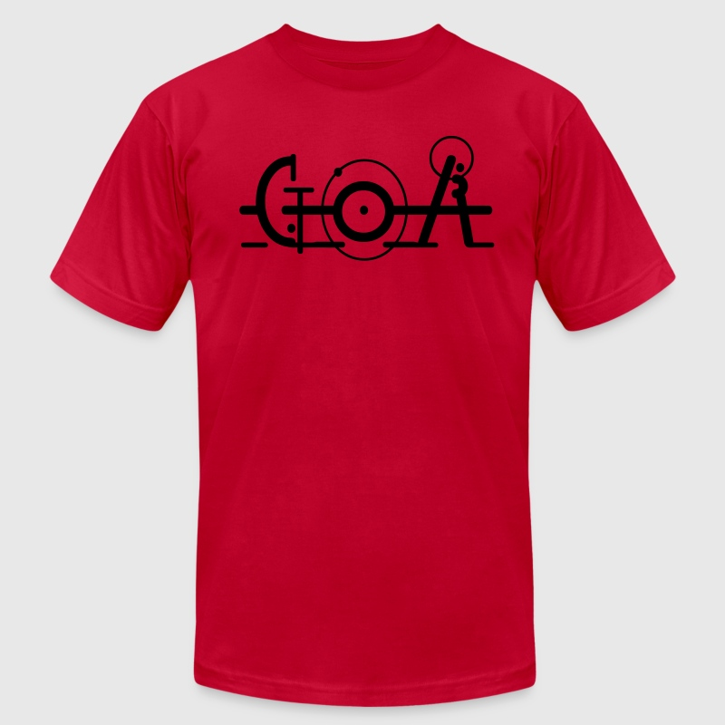 GOA Font ARt Music Motiv T-Shirts - Men's T-Shirt by American Apparel