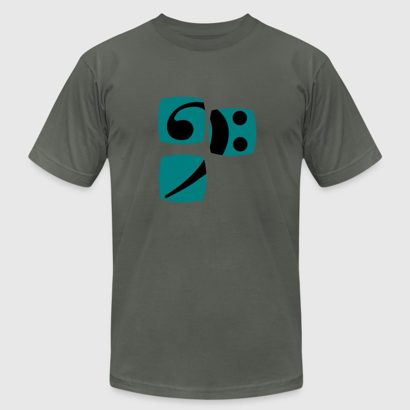 Bass clef for bass player and bass player shows you her bass player and musician T-Shirts - Men's T-Shirt by American Apparel