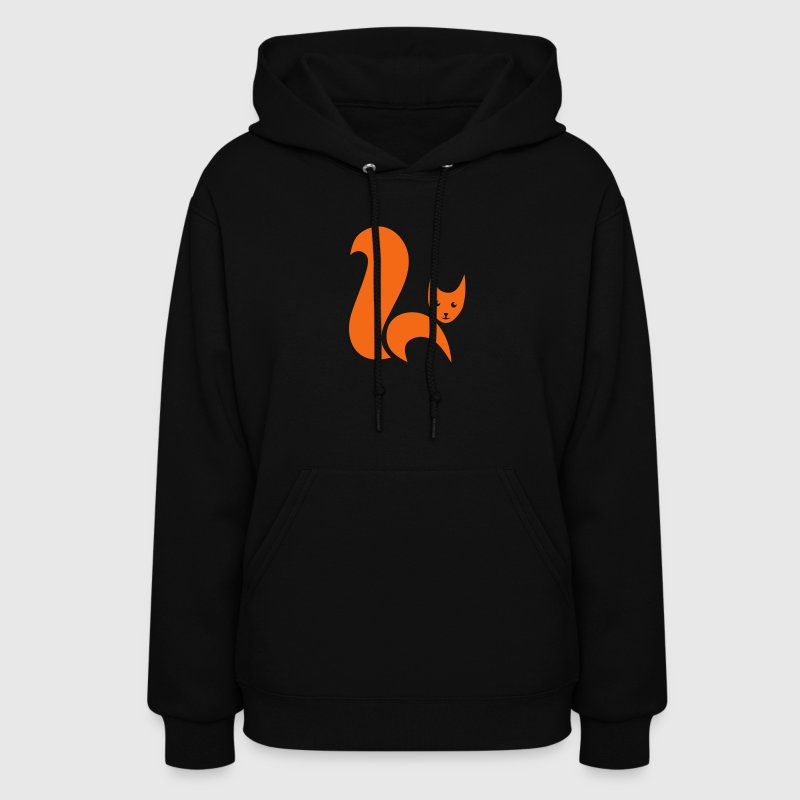 fox foxy cat squirrel pussy kitten readhead tail chipmunk animal forest Hoodies - Women's Hoodie