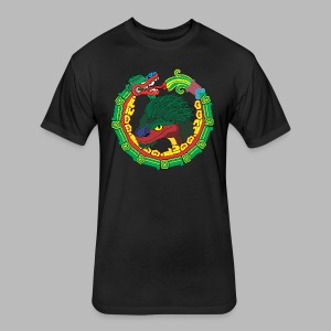 Quetzalcoatl Long Sleeve - Fitted Cotton/Poly T-Shirt by Next Level