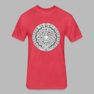 Aztec Mayan Calendar Hoodie - Fitted Cotton/Poly T-Shirt by Next Level
