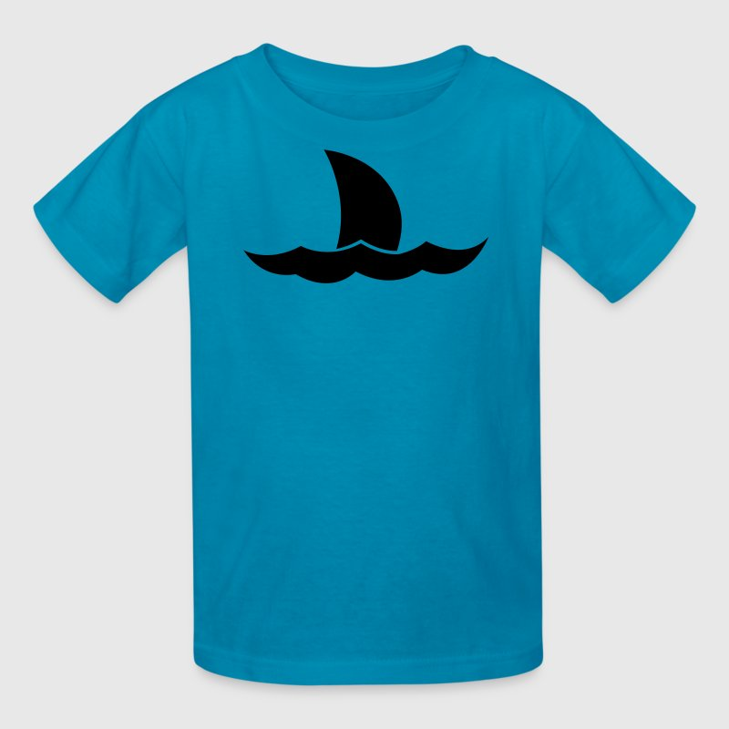 Shark Jaws tail on the ocean waves Kids' Shirts - Kids' T-Shirt