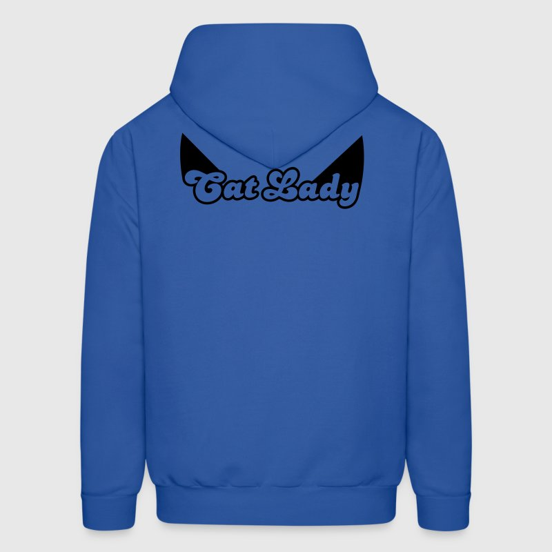 CAT LADY with cute little catty ears Hoodies - Men's Hoodie
