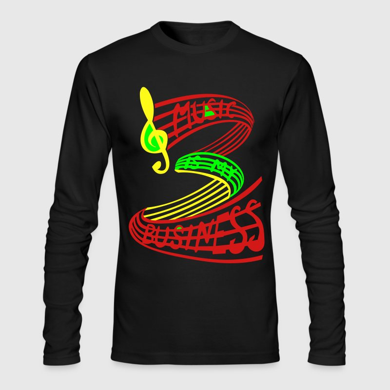 MUSIC IS MY BUSINESS  Rasta colours - Men's Long Sleeve T-Shirt by Next Level