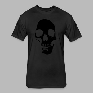 Skull Glow-in-the-Dark - Fitted Cotton/Poly T-Shirt by Next Level