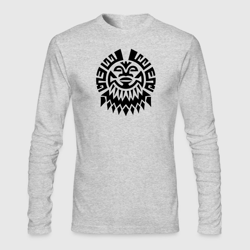 $ Mayan Tribal Face VECTOR Long Sleeve Shirts - Men's Long Sleeve T-Shirt by Next Level