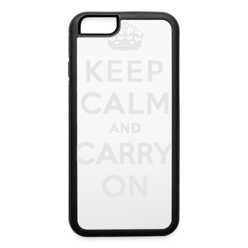 Keep Calm and Carry On Ladies Sweatshirt - iPhone 6/6s Rubber Case