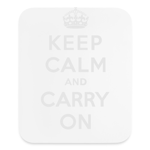 Keep Calm and Carry On Ladies Sweatshirt - Mouse pad Vertical