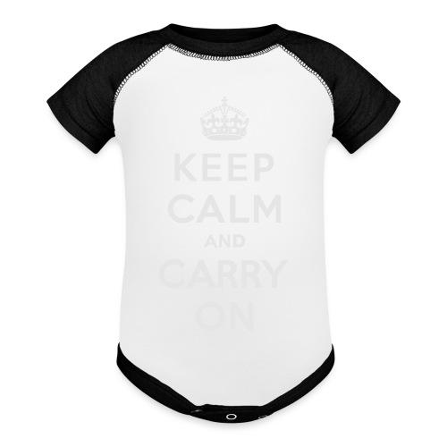 Keep Calm and Carry On Ladies Sweatshirt - Contrast Baby Bodysuit