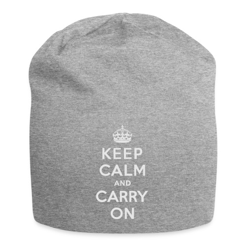 Keep Calm and Carry On Ladies Sweatshirt - Jersey Beanie